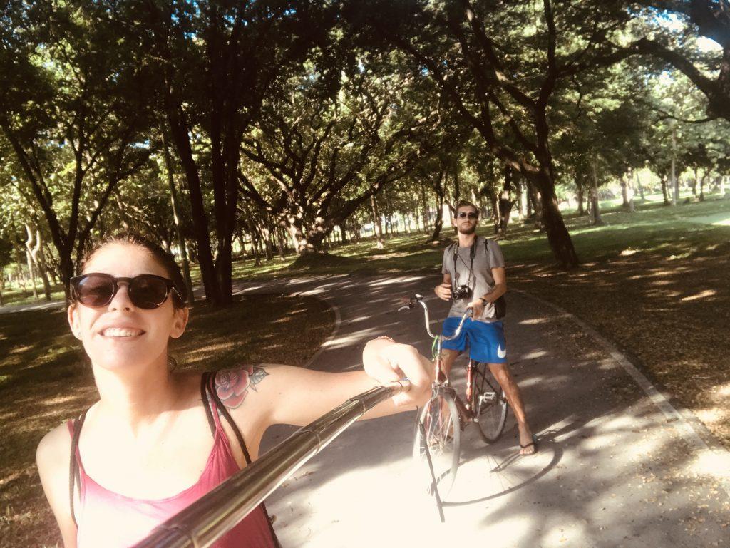 il parco storico di Sukhothai , Sukhothai , Sukhothai in bici
