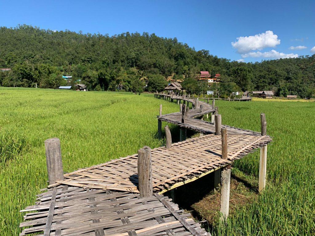 Pai : Bamboo Bridge , Thailandia