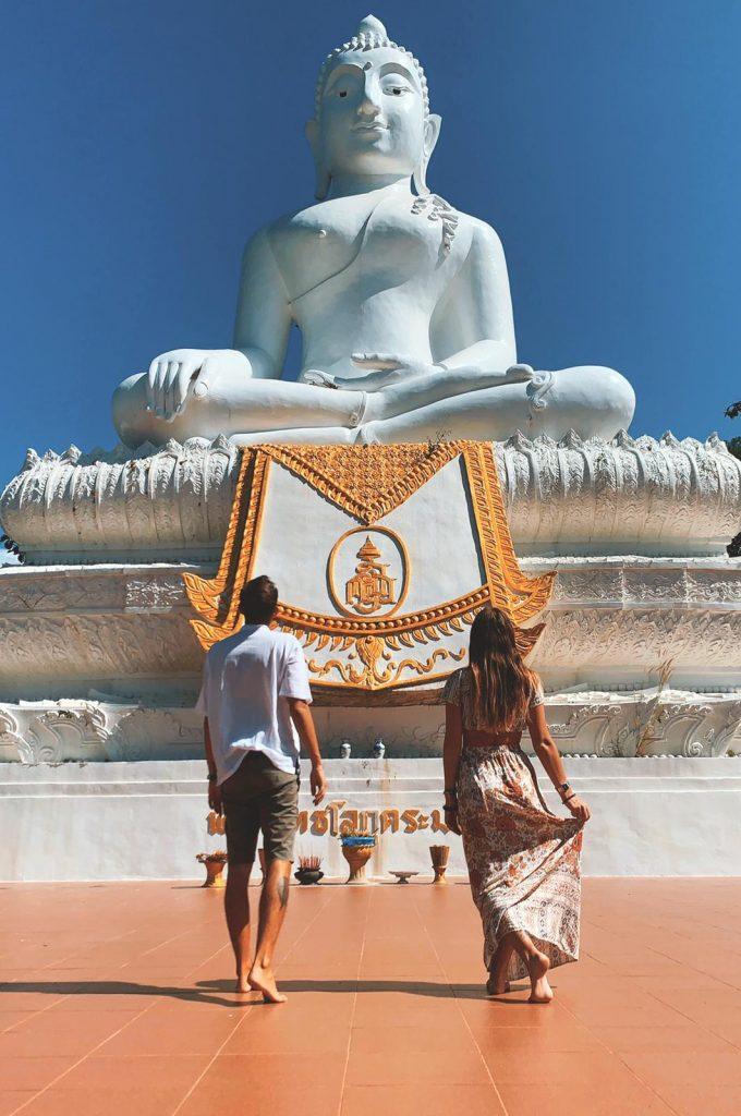 Pai : White Buddha  Thailandia , Thailand