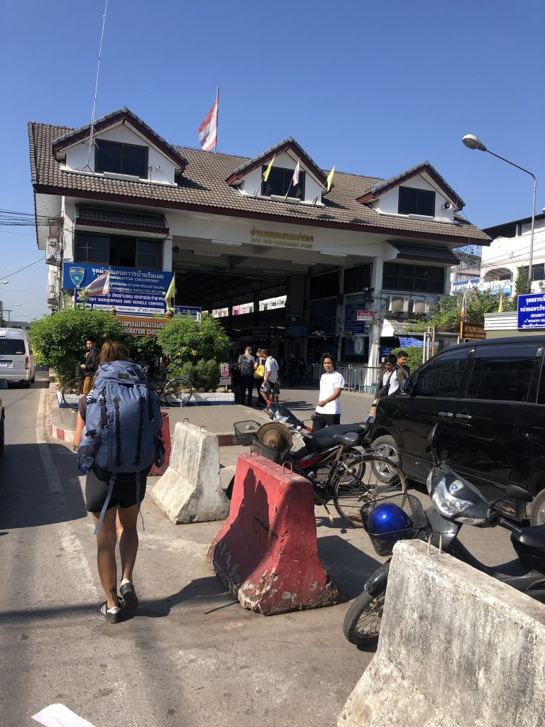 Itinerario classico del Myanmar - Mae Sot - Myawaddy Border , from Thailand to Myanmar