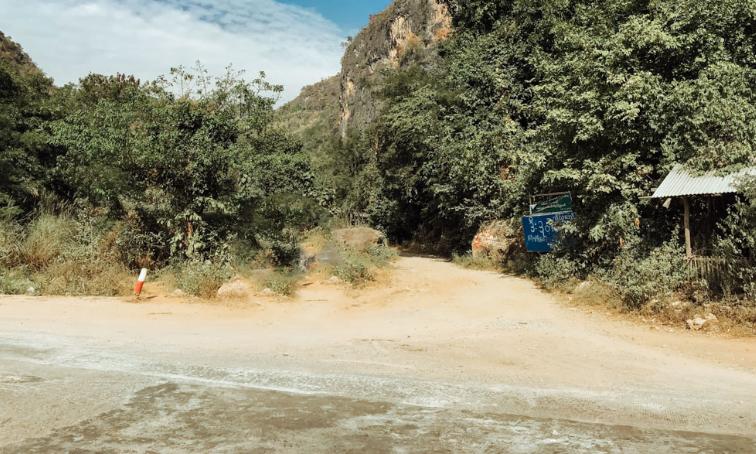 Itinerario classico del Myanmar -  Dee Dok Waterfall - come arrivarci - percorso completo